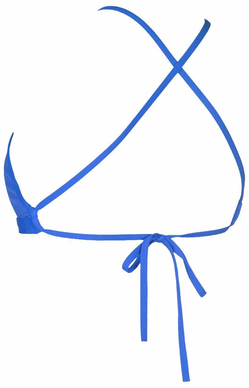 384502777f ARENA W Solid tie back top modrá - Arena shop - plavky a ...