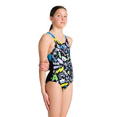 G PLAYFUL SWIM PRO BACK ONE PIECE L BLACK-TURQUOISE